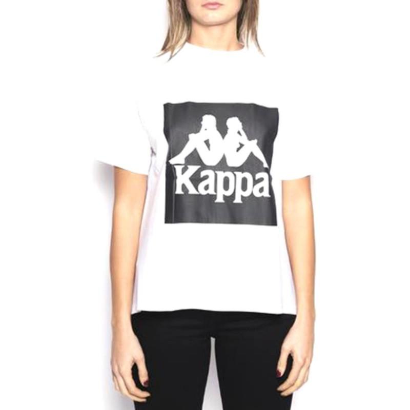 t-shirt authentic donna bianca kappa