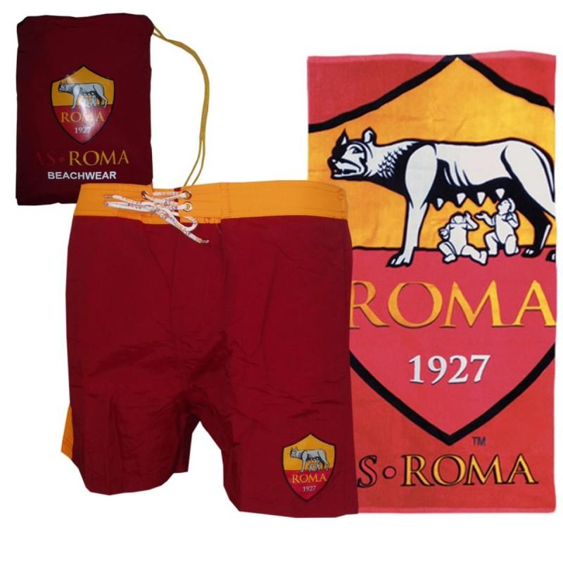 AS ROMA COSTUME BORDEAUX ARANCIO