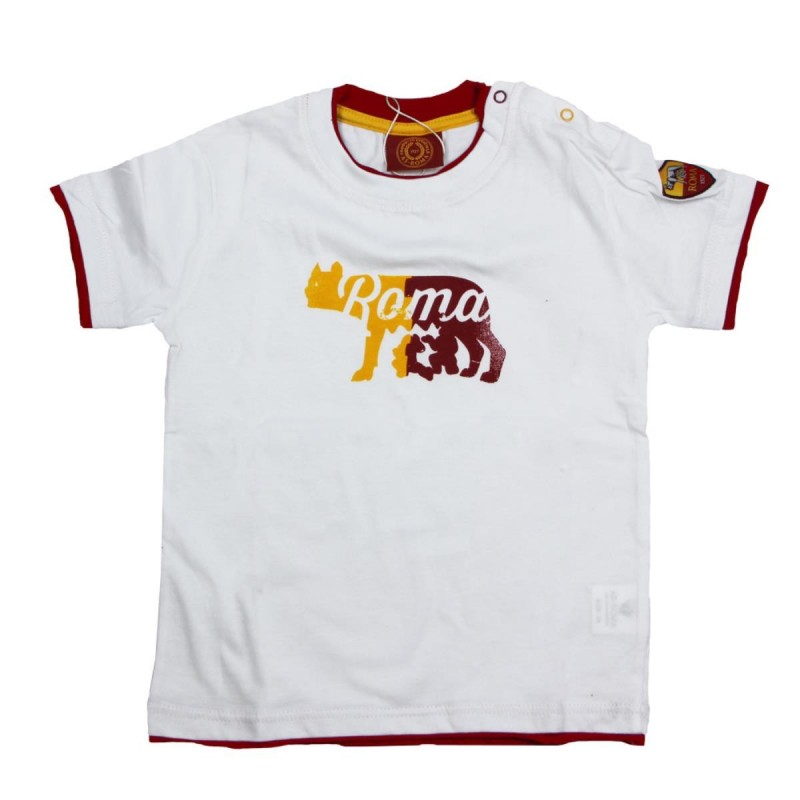 AS ROMA T-SHIRT LUPA BIANCA INFANT