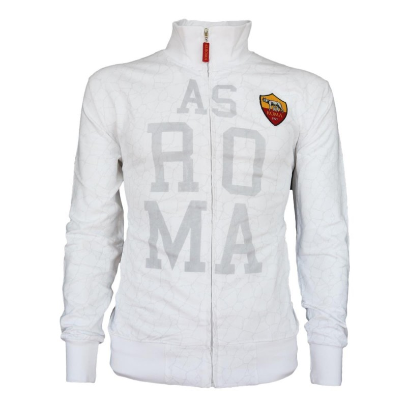 AS ROMA FELPA SPORT BIANCA FULL ZIP