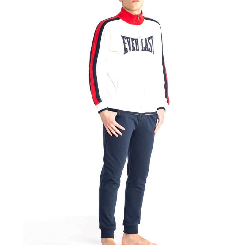 TUTA BANDA FULL ZIP BIANCO PANNA EVERLAST
