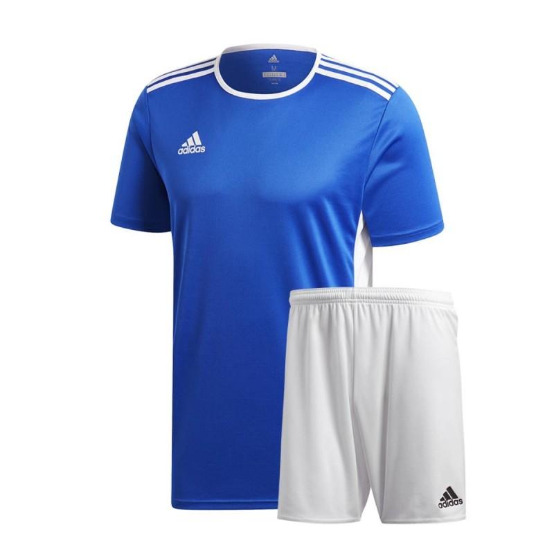 conjunto  ADIDAS camiseta y Pantalones corto ENTRADA Azul  ROYAL/Blanco