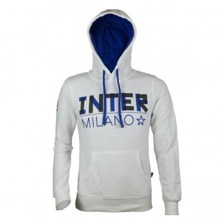 FC INTER FELPA BIANCA CON CAPPUCCIO FREE TIME