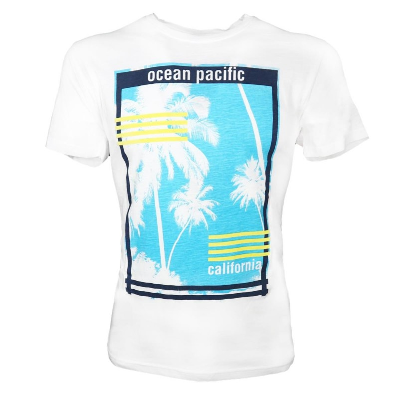 T-SHIRT BIANCA CALIFORNIA OCEAN PACIFIC