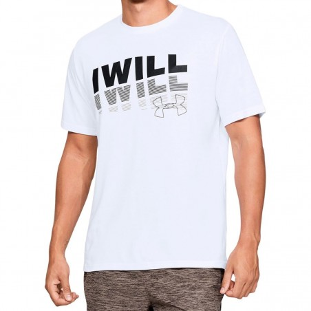 T-SHIRT BIANCA I WILL UNDER ARMOUR