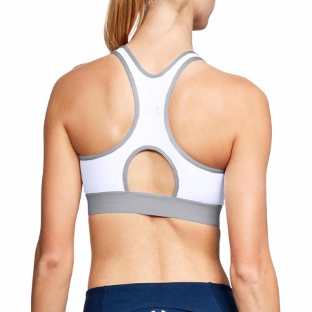 TOP TECNICO DONNA BIANCO MID UNDER ARMOUR