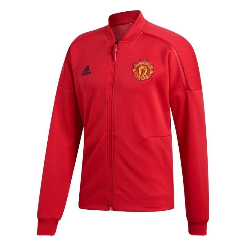 giacca rossa  z.n.e. manchester united