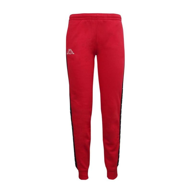 pantaloni banda rosso/neri donna kappa
