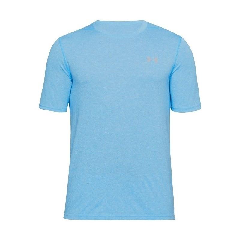 t-shirt azzurra threadborne under armour