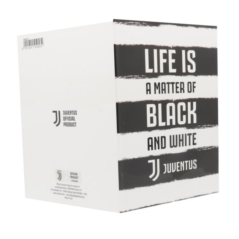 BIGLIETTO AUGURI JUVENTUS LIFE IS BLACK AND WHITE