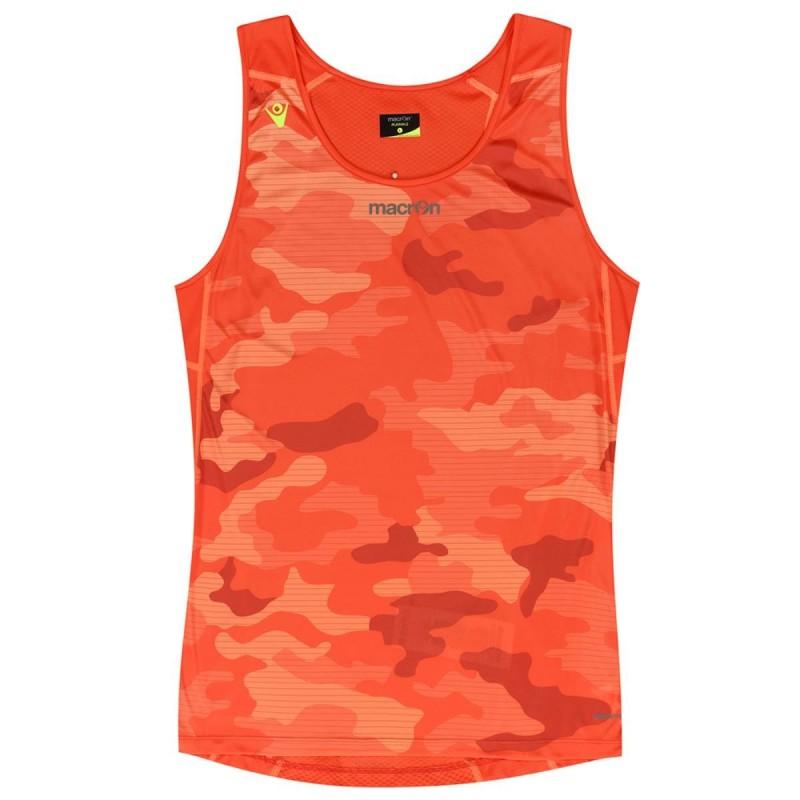 canotta sport arancione macron