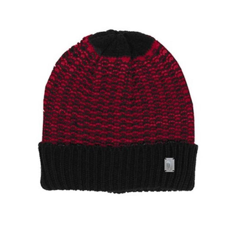 cappello rosso con risvolto nero ac milan