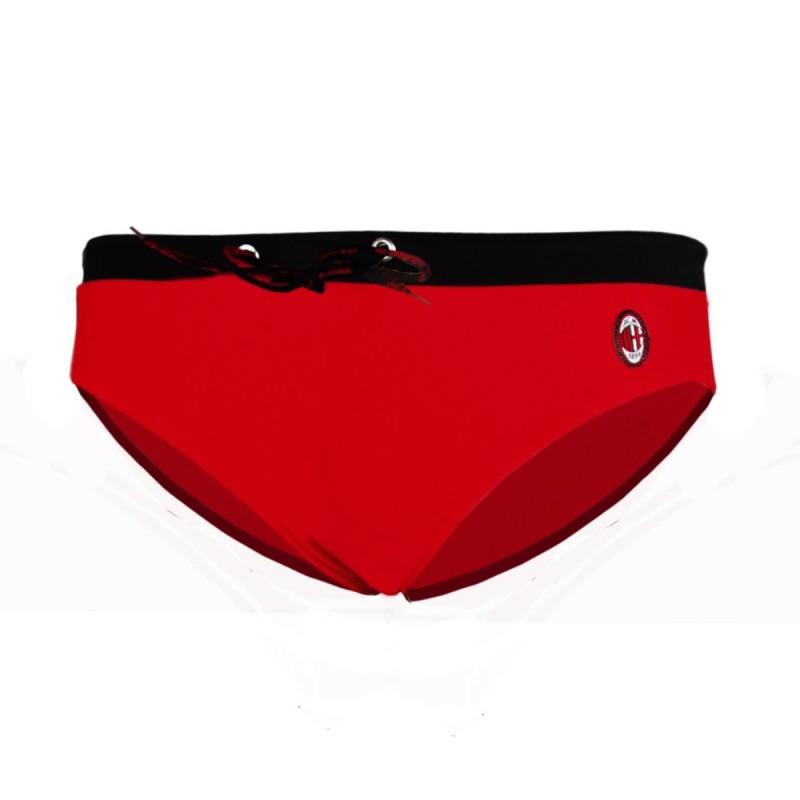 costume slip rosso logo ac milan