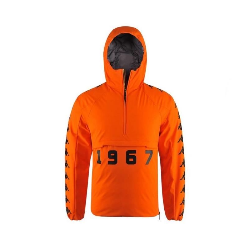 giacca con cappuccio arancione kappa