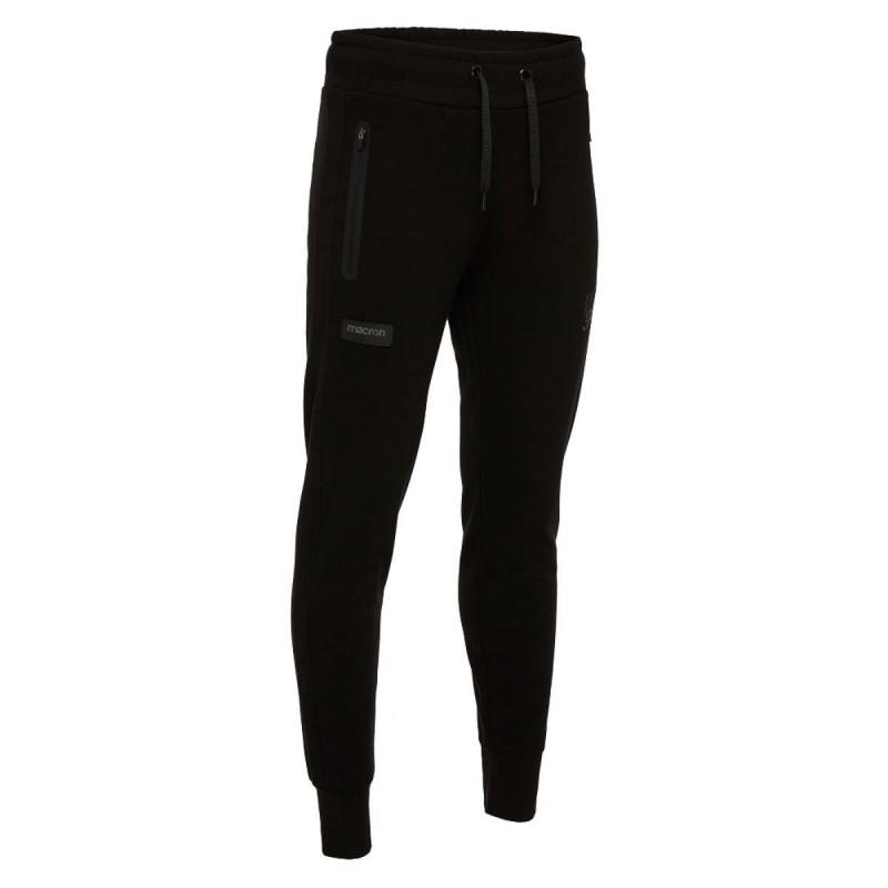 pantalone felpato nero donna macron