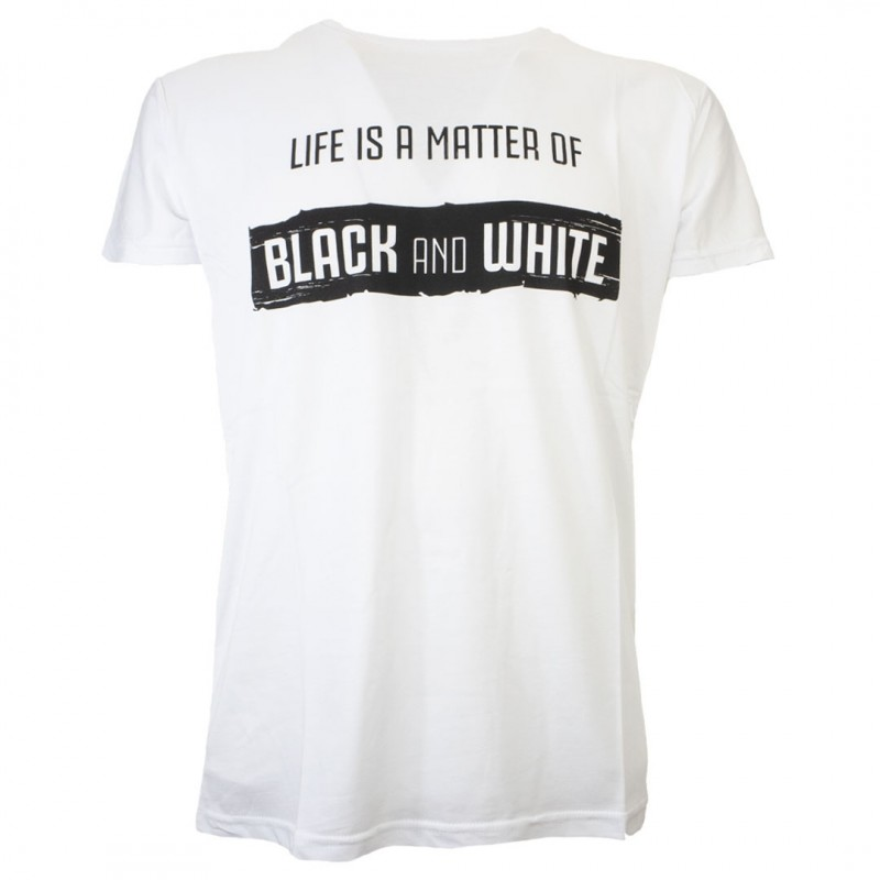 T-SHIRT BIANCA BLACK AND WHITE JUVENTUS