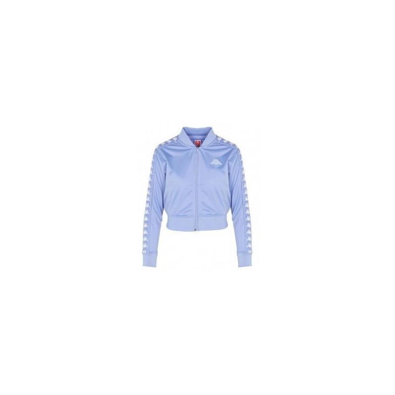 giacca corta viola/white donna kappa