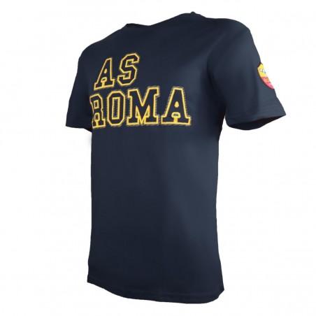 AS ROMA T-SHIRT SPORT PEACH BLU