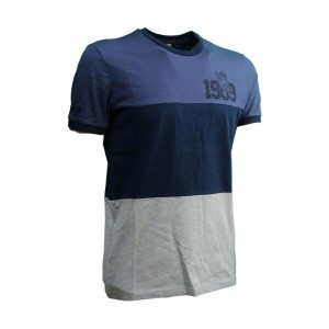 T-SHIRT NAVY/GRIGIA REAL...