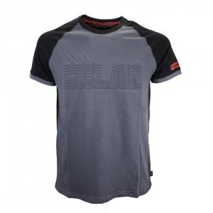 t-shirt milan grigia fan