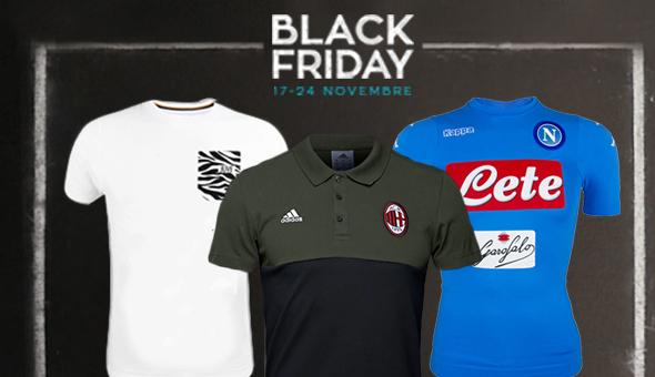 Inizia il Black Friday su SoccerTime: una settimana di super sconti sui prodotti di tutte le squadre